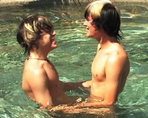 Skylar Joins Tristan In Pool!