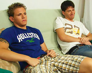 Two Hot Guys On The Couch!