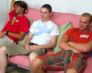 Threesome On The Couch!