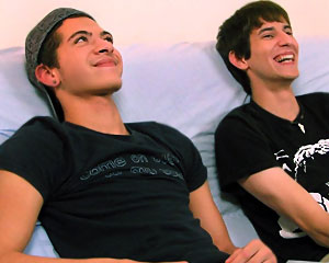 Zach and Mike On Couch!