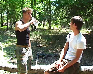 Zack and Mason In The Woods!